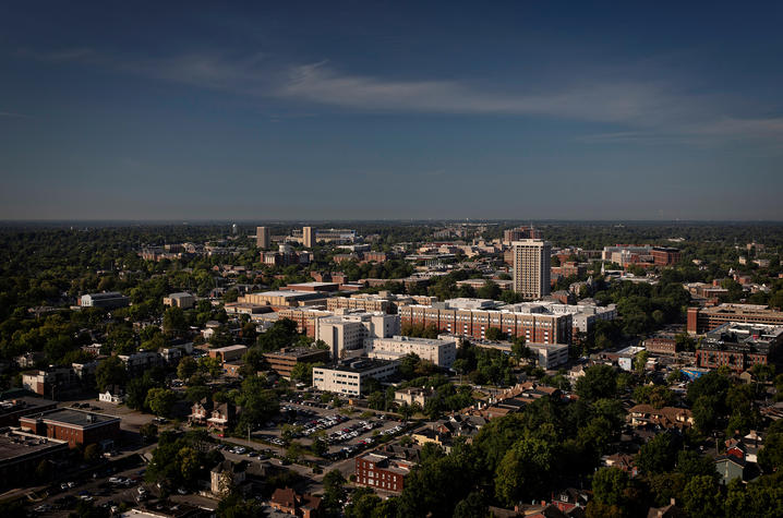 wide shot of campus