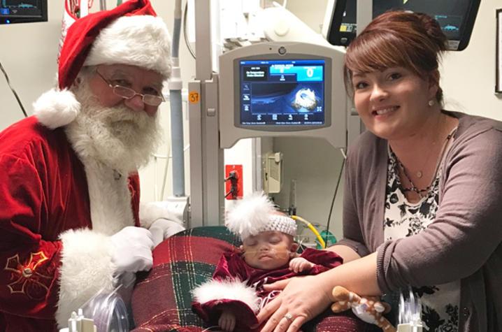 Caralina with Santa