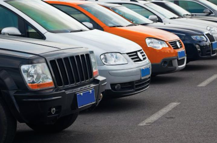photo of parked cars