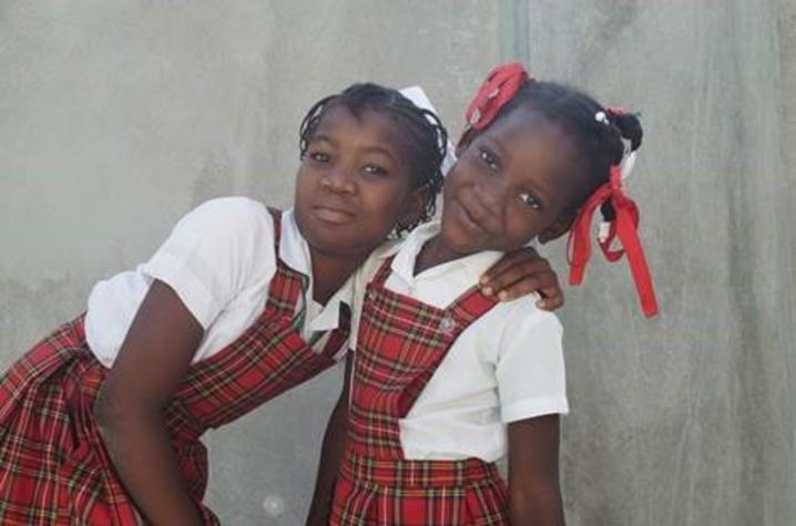 photo of 2 children at Haiti orphanage