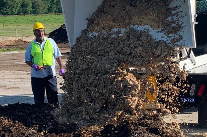 The finished compost will be used at the University's Organic Research Farm and by UK Grounds to provide an organic fertility boost to crops and campus landscaping.