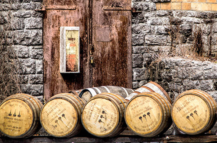 "photo of bourbon barrels from ""The Birth of Bourbon"" by Carol Peachee"