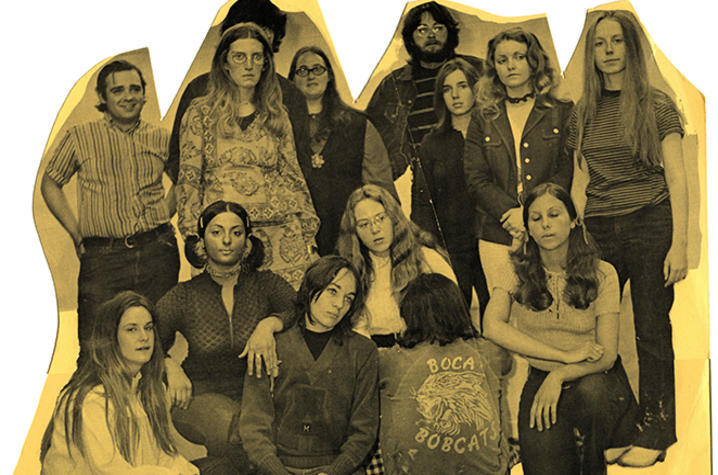 photo of detailed image from Susan King's 1971 undergrad student show announcement at UK