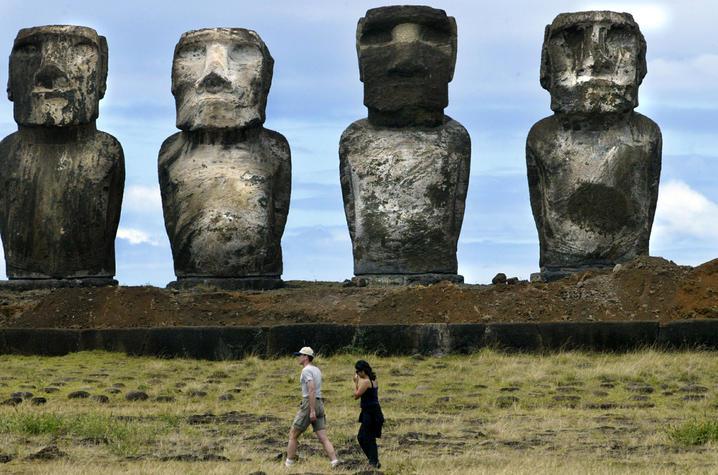 Easter Island's huge prehistoric statues