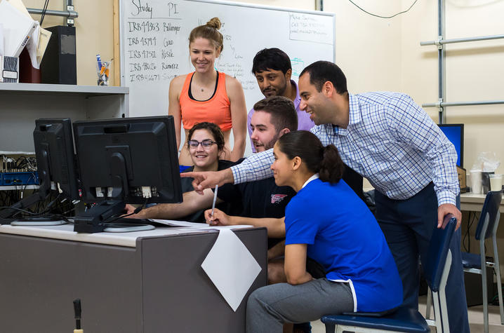 As a faculty member in the Department of Kinesiology and Health Promotion, Michael Samaan teaches courses that are helping undergraduates learn about biomechanics and graduate students study musculoskeletal modeling.