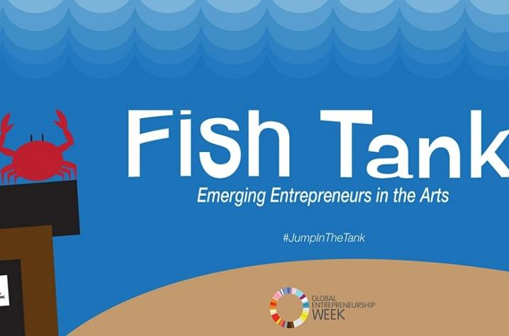 photo of poster art for Fish Tank: Emerging Entrepreneurs in the Arts