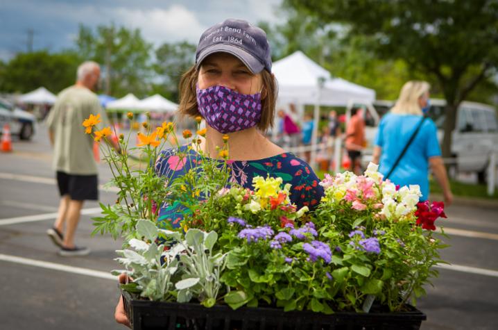 Vendor at the Lexington Farmers Market