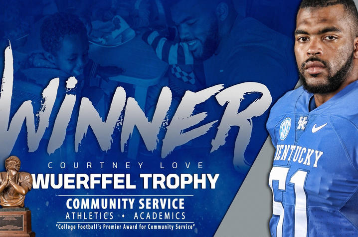 photo of banner of Courtney Love, 2017 Wuerffel Trophy Recipient