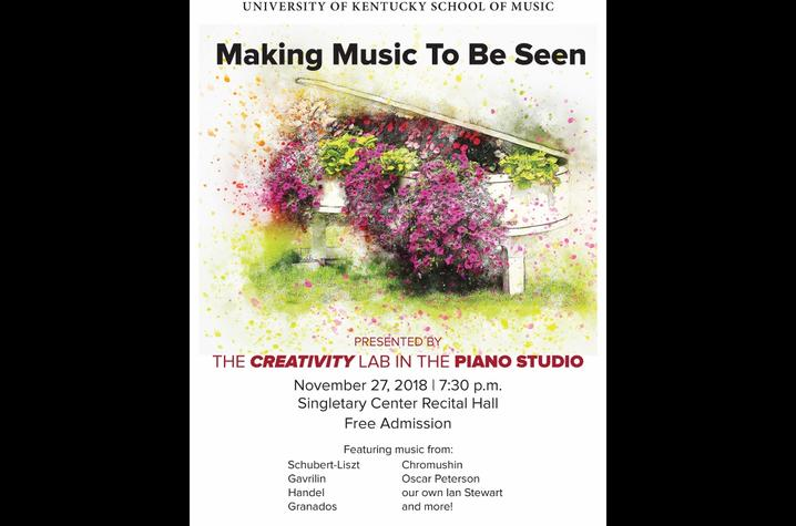 "photo of ""Making Music to Be Seen"" concert poster"