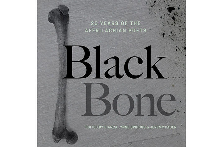 "photo of cover of ""Black Bone: 25 Years of Affrilachian Poets"""