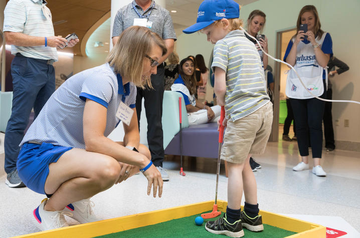 Golf coach Golda Borst