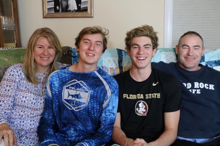 Kirsten, Kayne, Keagan and Curtis Finley