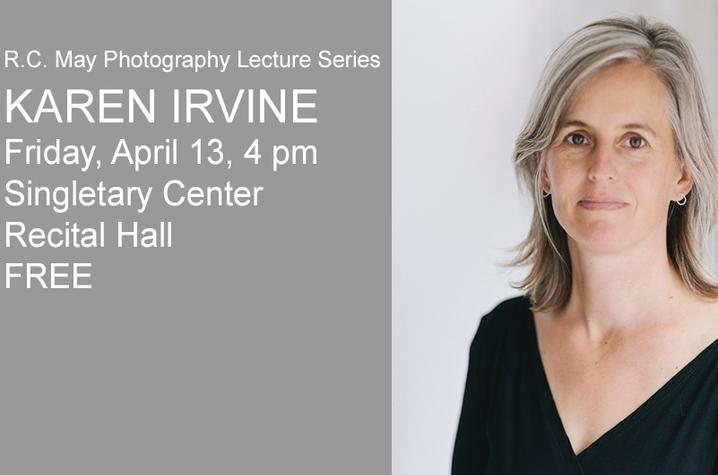 photo of web slider for Karen Irvine lecture with headshot on lecture details