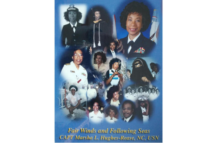 photo collage of Marsha Hughes-Rease's Navy career