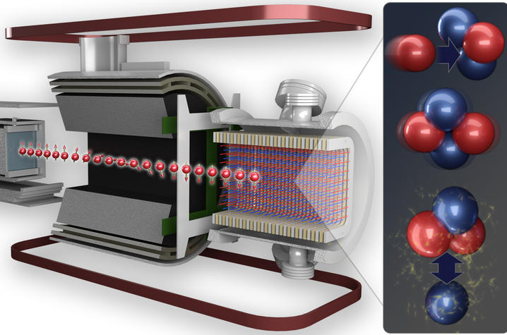 graphic of n-helium-3 precision experiment