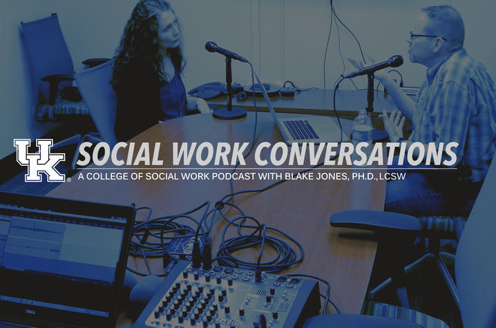 "photo of artwork for ""Social Work Conversations"" podcast"