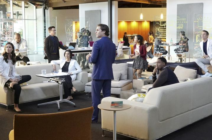 """scene of cast in meeting space from """"Pure Genius"""" on CBS"""