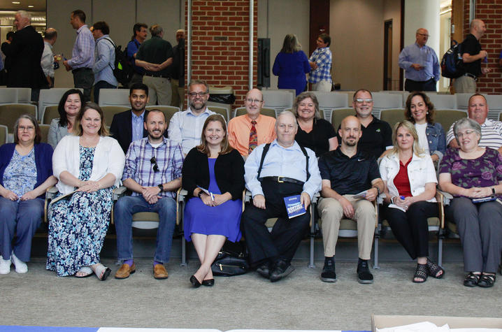 ITS Employee Service Award and Customer Excellence Award recipients. Picture courtesy of Rebecca Clements, ITS.