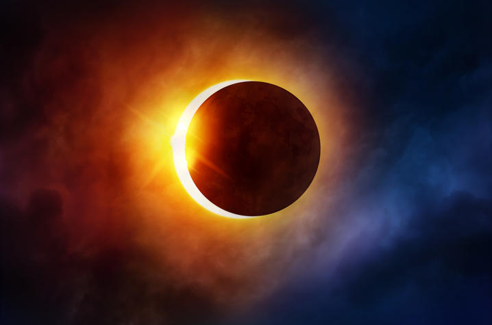 photo of solar eclipse