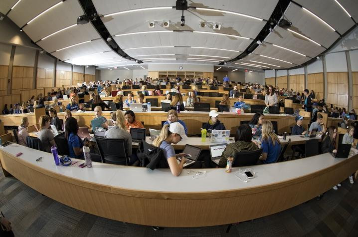 photo of students in a class at UK