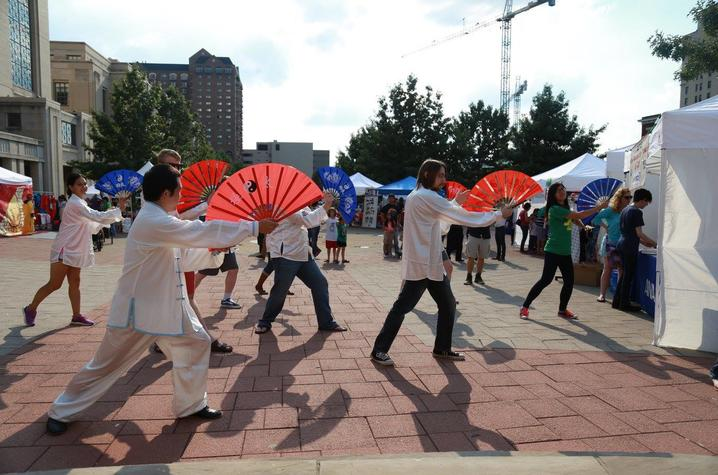photo of tai chi demonstration - Global Confucius Institute