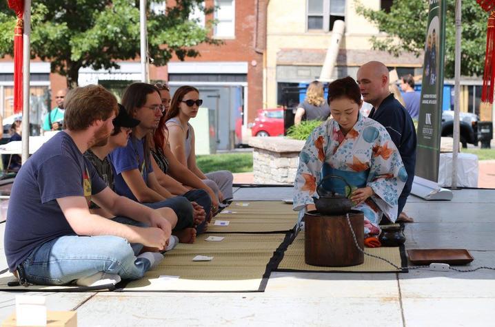 photo of tea ceremony - Global Confucius Institute Day
