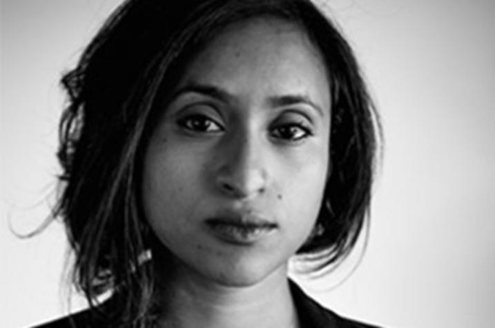 black and white headshot photo of Tarfia Faizullah