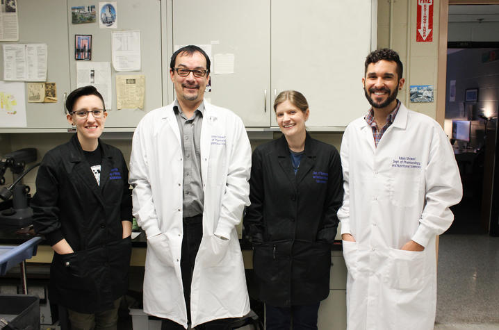 Photo of Olivier Thibault's lab staff
