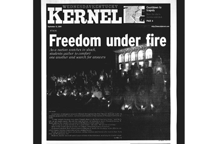 photo of Sept. 12, 2001 Kentucky Kernel cover