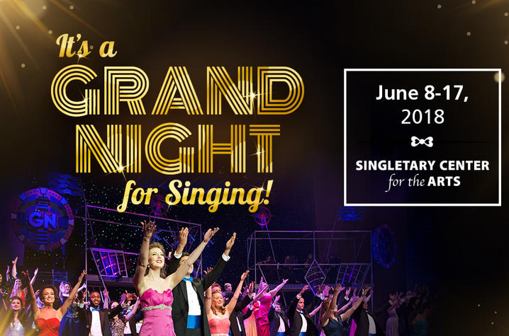 "web banner for ""It's a Grand Night for Singing!"" 2018"