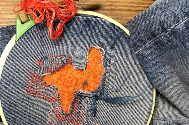 photo of an example of visible mending