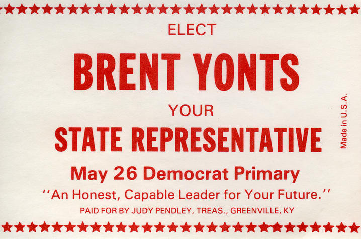 photo of Brent Yonts primary campaign poster