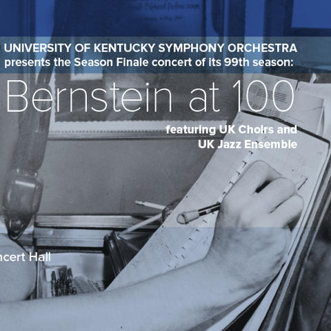 photo of UKSO's Bernstein at 100 concert poster