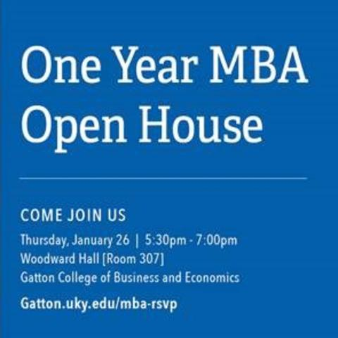 One Year MBA Open House