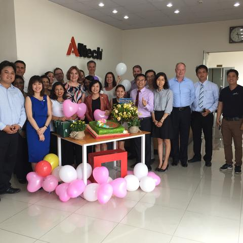Exec MBA group at Alltech facility in Vietnam