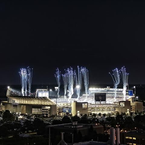 photo of Kroger Field at night
