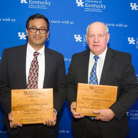 Surendranath Suman, left, and Warren Beeler