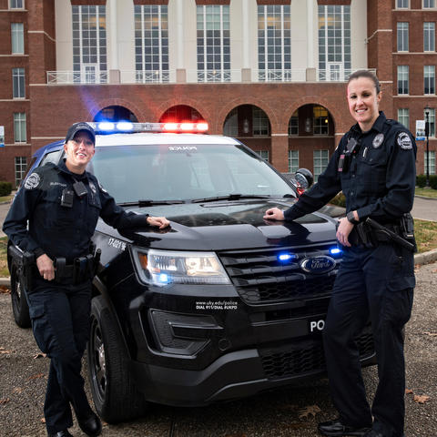photo of UK Officers Andy Eilertson and Holly Williams