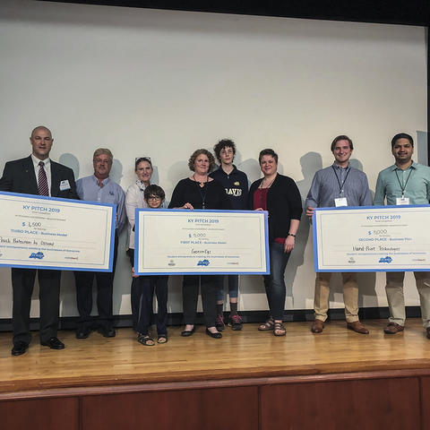 photo of UK competitors at Pitch competition