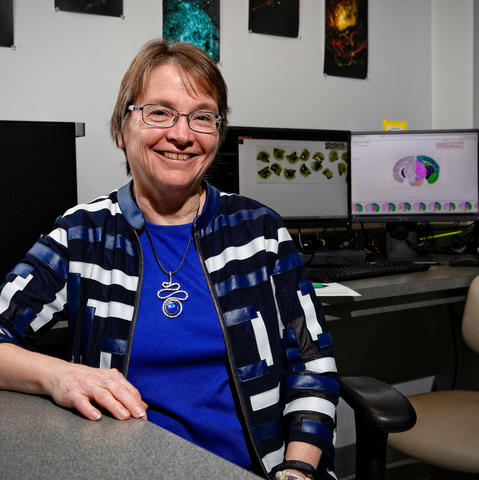 SBCoA director Linda J. Van Eldik, Ph.D. on March 14, 2019. Photo by Mark Cornelison | UKphoto