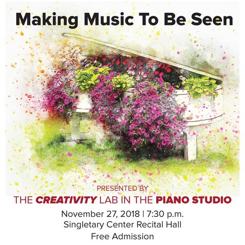"""photo of poster for """"Making Music To Be Seen"""" concert"""