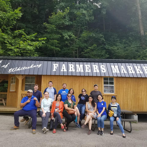 photo of UK trainees at Letcher County Farmers Market in Whitesburg