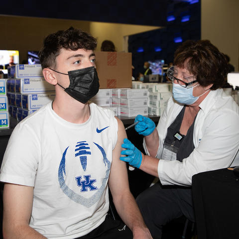 UK Students are getting vaccinated against COVID-19.