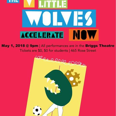 "photo of ""The V Little Wolves Accelerate Now"" poster"