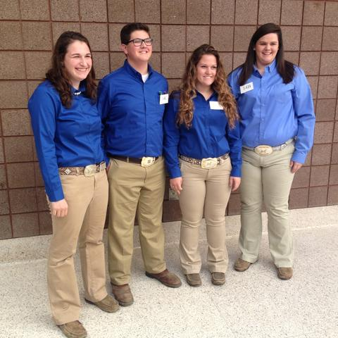 photo of Kentucky 4-H Livestock Skillathon teams