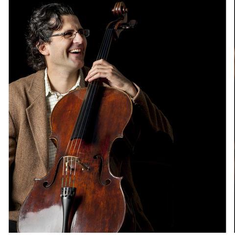 photos of Amit Peled with cello and John Nardolillo conducting