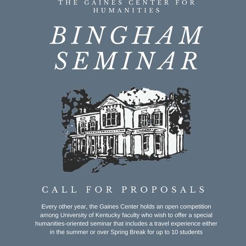 poster for the 2019 Bingham Seminar