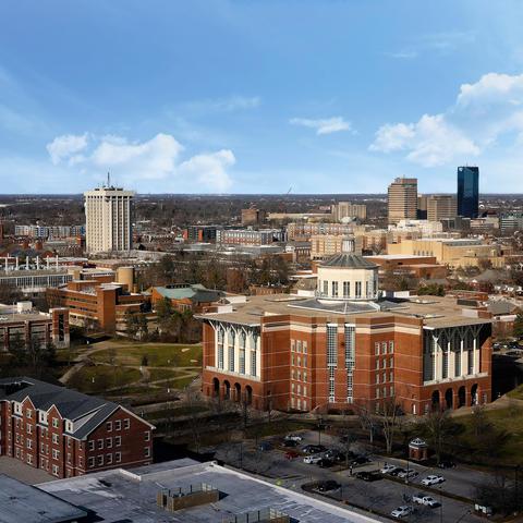 aerial photo of UK's campus