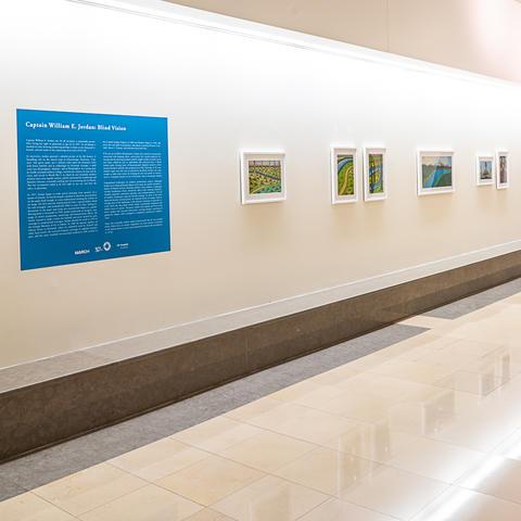 image of corridor with art