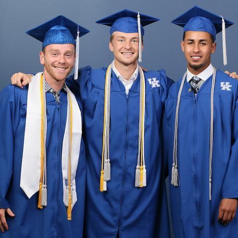 Photo of graduating athletes
